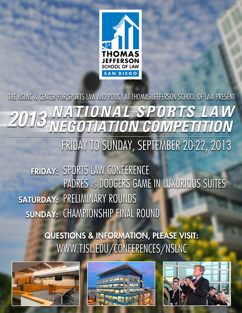 TJSL to Host National Sports Law Negotiation Competition in September