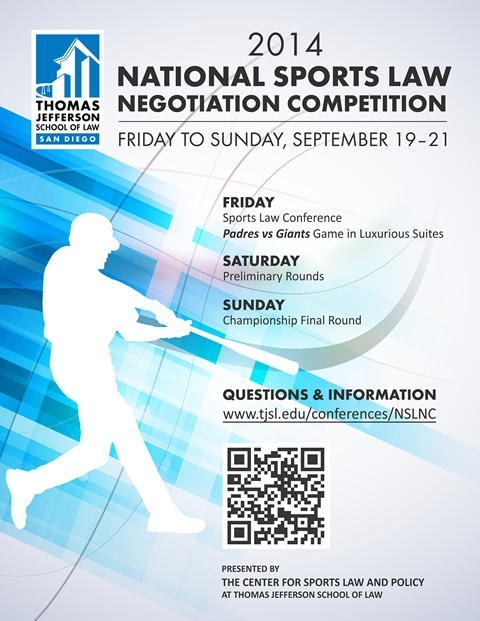 """Upcoming National Sports Law Negotiation Competition & Sports Law Conference,"" by Alfredo Bustamante, 2L, CSLP Fellow"