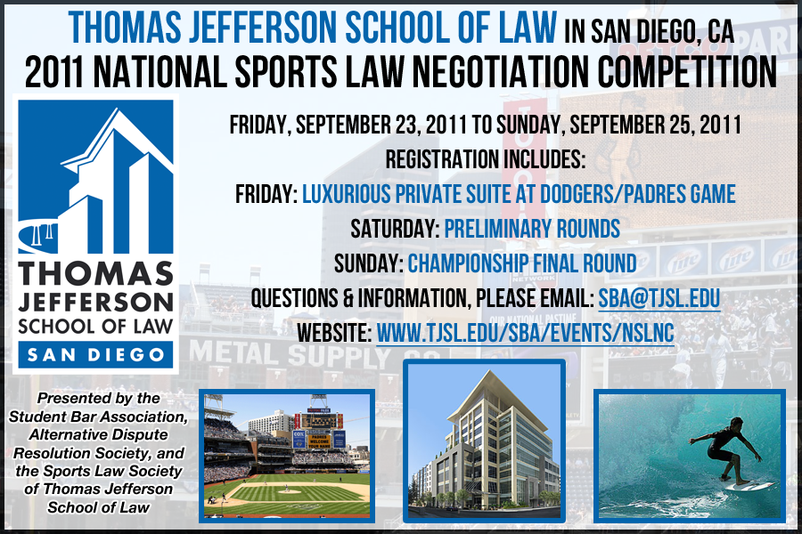 """National Sports Law Negotiation Competition & Symposium (NSLNC) 2011,"" by Jeremy M Evans, NSLNC Director"