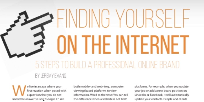 Finding Yourself on the Internet: 5 Steps to Build a Professional Online Brand